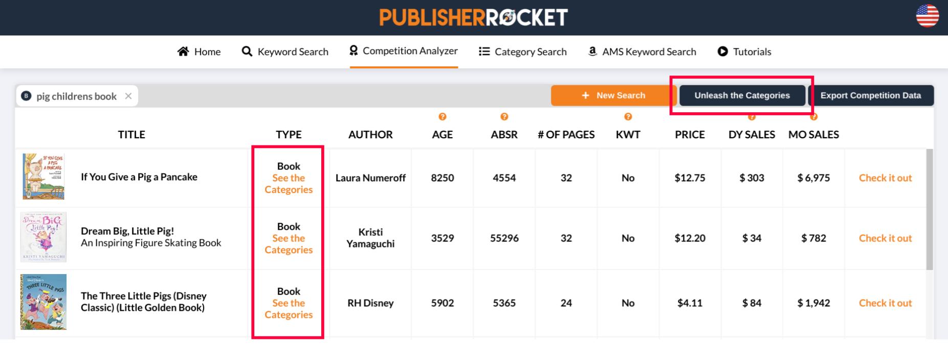 competition analyzer screenshot